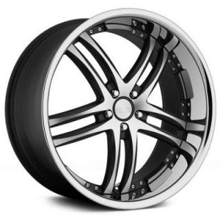 RS-55 BLACK RIM with MACHINED FACE by CONCEPT ONE WHEELS