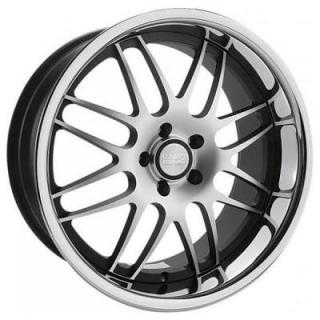 RS-8 BLACK RIM with MACHINED FACE by CONCEPT ONE WHEELS