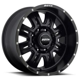 REHAB SATIN BLACK RIM 8 LUG by SOTA OFFROAD WHEELS