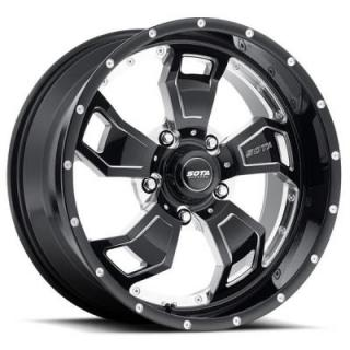 S.C.A.R. BLACK MILLED RIM 5 LUG by SOTA OFFROAD WHEELS