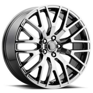 FORD MUSTANG PERFORMANCE STYLE 54 PVD BLACK CHROME RIM by FACTORY REPRODUCTIONS WHEELS