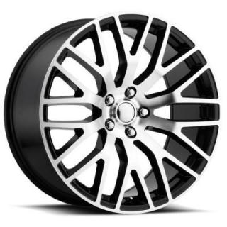 FACTORY REPRODUCTIONS WHEELS  FORD MUSTANG PERFORMANCE STYLE 54 BLACK RIM with MACHINED FACE