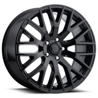 FACTORY REPRODUCTIONS WHEELS  FORD MUSTANG PERFORMANCE STYLE 54 GLOSS BLACK RIM