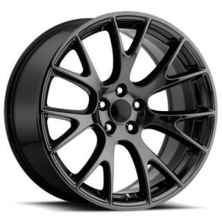 FACTORY REPRODUCTIONS WHEELS  DODGE HELLCAT STYLE 70 PVD BLACK CHROME RIM