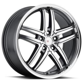 SPECIAL BUY WHEELS  VOXX TORINO GUNMETAL RIM with MACHINED FACE and MIRROR LIP PPT