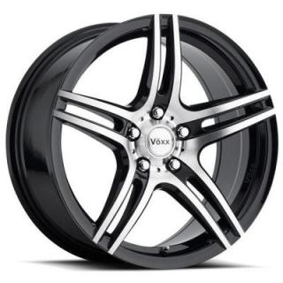 VOXX CAPRI GLOSS BLACK RIM with MACHINED FACE and BLACK LIP PPT from SPECIAL BUY WHEELS