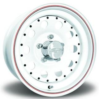 U.S. WHEEL  MODULAR 90 SERIES WHITE RIM with RED and BLUE PINSTRIPE