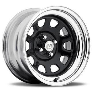 U.S. WHEEL  DAYTONA FWD 022BC SERIES BLACK CENTER CHROME RIM