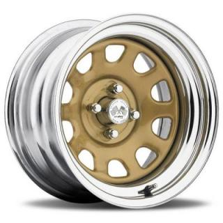 U.S. WHEEL  DAYTONA FWD 022GC SERIES RED CENTER GOLD RIM