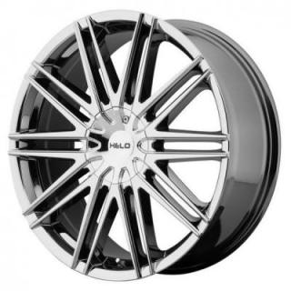 SPECIAL BUY WHEELS  HELO HE880 BRIGHT PVD RIM PPT SET OF 4