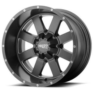 MOTO METAL WHEELS  MO962 SATIN GREY MILLED RIM