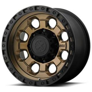 AX201 MATTE BRONZE RIM with BLACK LIP by ATX SERIES WHEELS