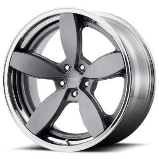 AMERICAN RACING WHEELS  VN900 DAISY SATIN GRAY RIM with CHROME LIP