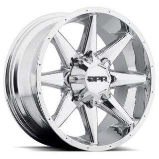SPECIAL BUY WHEELS  DPR OFFROAD 801 STEALTH CHROME RIM DISPLAY SET 1 SET ONLY - SOLD AS IS