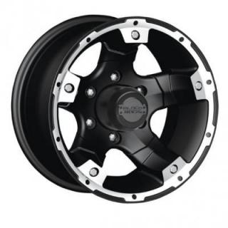 SPECIAL BUY WHEELS  BLACK ROCK 900B VIPER BLACK RIM with MACHINED ACCENTS