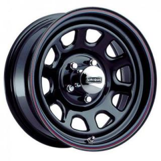 SPECIAL BUY WHEELS  UNIQUE SERIES 42 D-WINDOW BLACK RIM with STRIPES DISPLAY SET 1 SET ONLY - SOLD AS IS