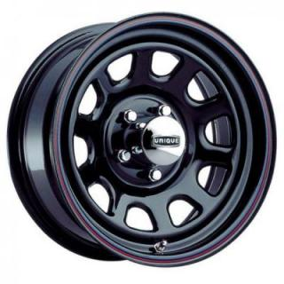 UNIQUE SERIES 42 D-WINDOW BLACK RIM with STRIPES by SPECIAL BUY WHEELS