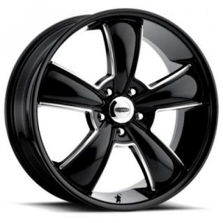 615BMBC MODERN MUSCLE BLACK RIM with MACHINED ACCENTS by CRAGAR WHEELS