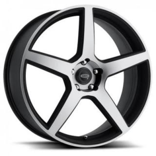 CRAGAR WHEELS  620MB MODERN MUSCLE BLACK RIM with MACHINED FACE