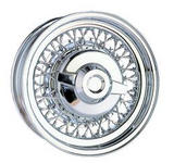ROADSTER WIRE WHEEL  CHRYSLER WIRE WHEEL CHROME - CAP ADDITIONAL $60
