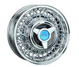 ROADSTER WIRE WHEEL  THUNDERBIRD STYLE WIRE CHROME - CAP ADDITIONAL $60