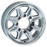 SENDEL WHEELS  T04 TRAILER SILVER MACHINED RIM