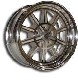 V50 2 PIECE BLASTED CENTER and MACHINED or POLISHED OUTER RIM by VINTAGE WHEEL WORKS