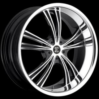 2 CRAVE WHEELS  2 CRAVE N02 BLACK/CHROME RIM