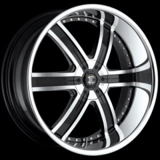 2 CRAVE WHEELS  2 CRAVE N04 BLACK/CHROME RIM