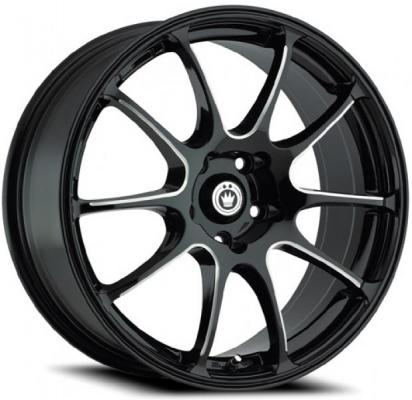 KONIG WHEELS  ILLUSION GLOSS BLACK BALL CUT MACHINED SPOKES