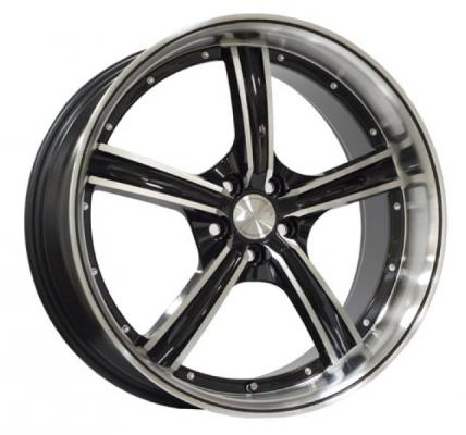 SPEEDY WHEELS  VAPOR BLACK RIM with MACHINED LIP
