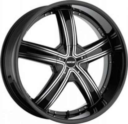 MKW WHEELS  M103 GLOSS BLACK MACHINED RIM