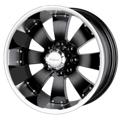 MAZZI WHEELS  HULK BLACK RIM with MACHINED LIP