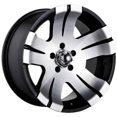 ION ALLOY WHEELS  TYPE 138 BLACK RIM with MACHINED FACE