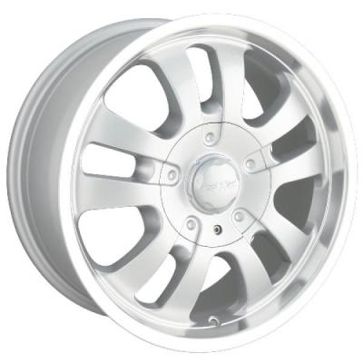 DIP WHEELS  D10 SILVER RIM with MACHINED LIP