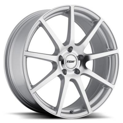 TSW WHEELS  INTERLAGOS ROTARY FORGED SILVER RIM with MIRROR CUT FACE