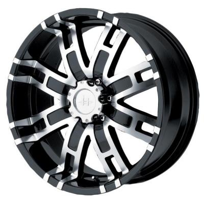 HELO WHEELS  HE835 BLACK MACHINED RIM