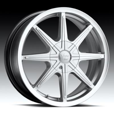 VISION WHEELS  KRYPTONITE 378 FWD HYPER SILVER MACHINED RIM