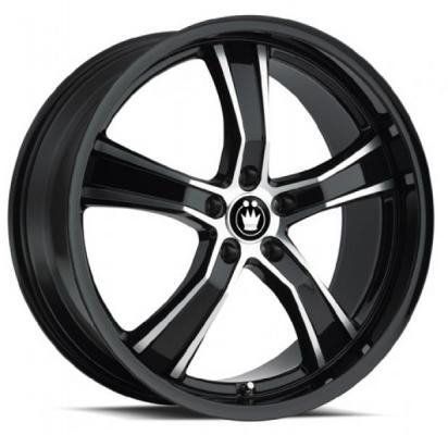 KONIG WHEELS  AIRSTRIKE BLACK RIM with MACHINED SPOKES