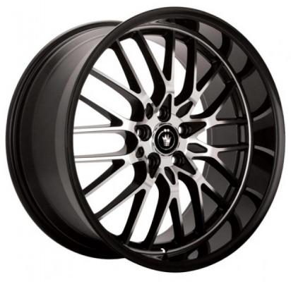 KONIG WHEELS  LACE BLACK RIM with MACHINED SPOKES