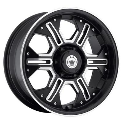 KONIG WHEELS  LOCKNLOAD MATTE BLACK RIM with MACHINED FACE