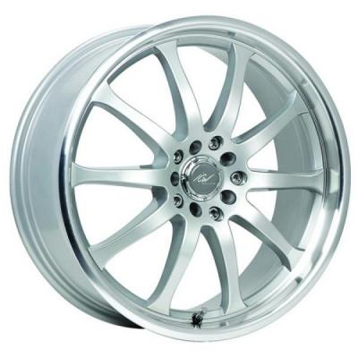 ICW WHEELS  211MS BONZAI SILVER RIM with MIRROR MACHINEDLIP