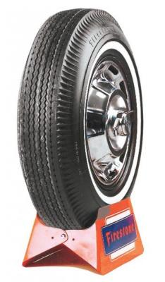 FIRESTONE VINTAGE TIRES  VINTAGE BIAS PLY 07 WHITEWALL TIRE