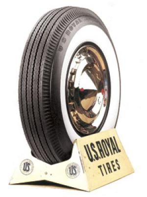 U.S. ROYAL TIRES  VINTAGE 02 WHITEWALL & BLACKWALL BIAS PLY TIRE