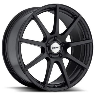 TSW WHEELS  INTERLAGOS ROTARY FORGED MATTE BLACK RIM