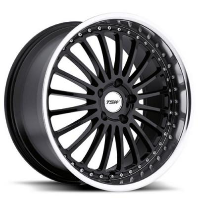 TSW WHEELS - OCT. SALE!  SILVERSTONE GLOSS BLACK RIM with MIRROR CUT LIP