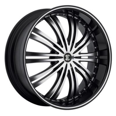 2 CRAVE WHEELS  BLACK DIAMOND N01 BLACK/MACHINED RIM