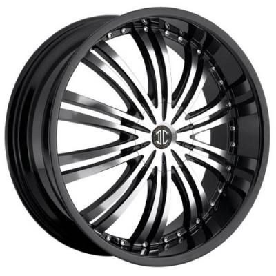2 CRAVE WHEELS  2 CRAVE N01 BLACK/MACHINED RIM with BLACK LIP