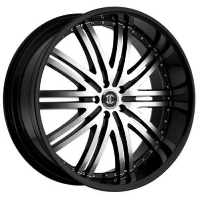 2 CRAVE WHEELS  2 CRAVE N11 BLACK/MACHINED RIM