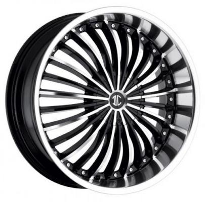 2 CRAVE WHEELS  2 CRAVE N13 BLACK/MACHINED LIP RIM